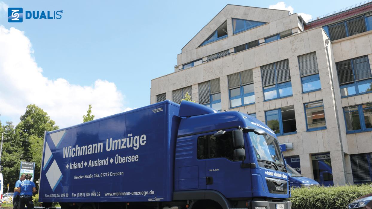 Dualis räumt das alte Büro auf der Tiergartenstraße in Dresden