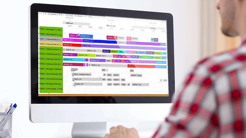 GANTTPLAN APS mit zentrale Planung und IoT-fähig